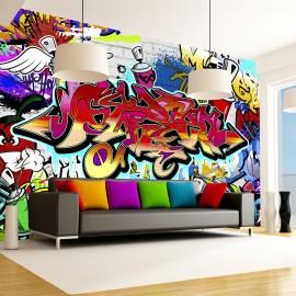 Papier peint - Street art:red theme