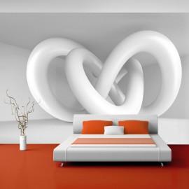 Papier peint - White weave