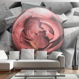 Papier peint - Rose de pierre