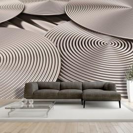 Papier peint -  Copper Spirals