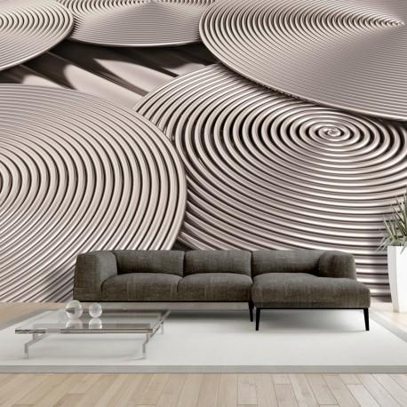 Papier peint   Copper Spirals