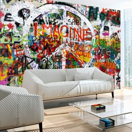 Papier peint - Hippie Graffiti