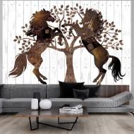 Papier peint  Mechanical Horses