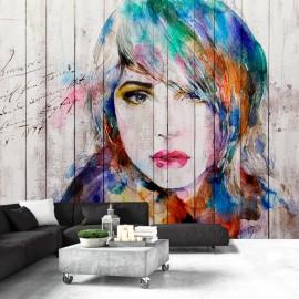 Papier peint - Wooden Portrait