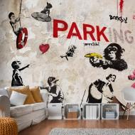 Papier peint  [Banksy] Graffiti Collage