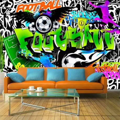 Papier peint  Football Graffiti