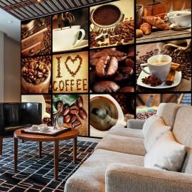 Papier peint - Coffee - Collage