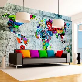 Papier peint - Map - Graffiti