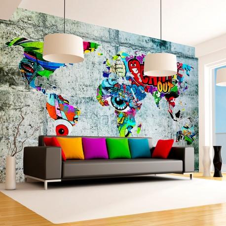 Papier peint  Map  Graffiti