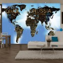 Papier peint - World Map - Blue Inspiration
