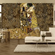Papier peint  Klimt inspiration  Golden Kiss