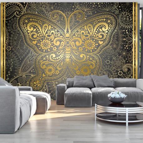 Papier peint  Golden Butterfly