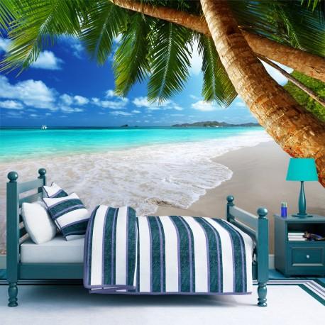 Papier peint  Île tropicale
