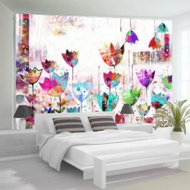 Papier peint - Colorful tulips