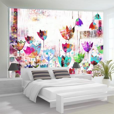 Papier peint  Colorful tulips