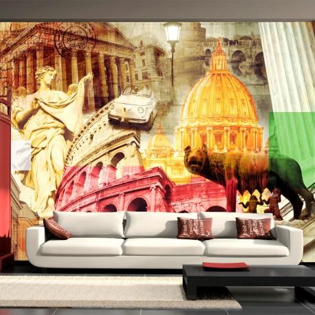 Papier peint  Rome  collage