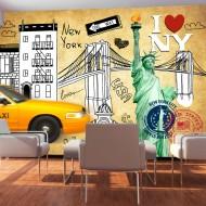 Papier peint  One way  New York