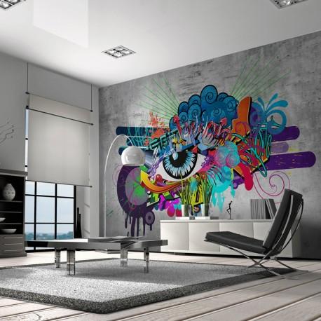 Papier peint  Graffiti eye