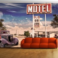 Papier peint  Old motel