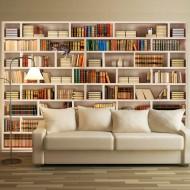 Papier peint  Bibliothèque domestique
