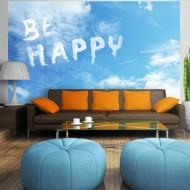 Papier peint  Be happy