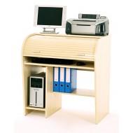 Bureau cylindre informatique à rideau