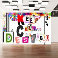 Papier peint  Keep Calm and Design