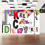 Papier peint  Keep Calm and Design