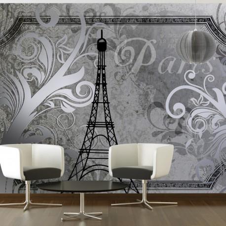 Papier peint  Vintage Paris  silver