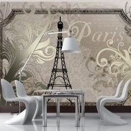 Papier peint  Vintage Paris  gold
