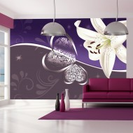 Papier peint  Lily in shades of violet