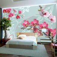 Papier peint  Pink orchids  variation II
