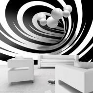 Papier peint  Twisted In Black & White