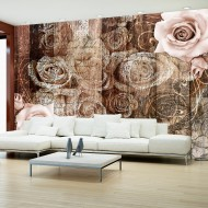 Papier peint  Old Wood & Roses