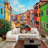 Papier peint   Colorful Canal in Burano