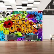 Papier peint  Scary graffiti