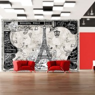 Papier peint  Bonjour Paris