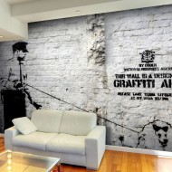 Papier peint  Banksy  Graffiti Area