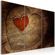 Tableau  Ancien amour ne rouille pas  3 pièces