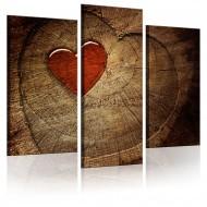 Tableau  Ancien amour ne rouille pas  triptyque