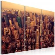 Tableau  Coucher de soleil sur New York