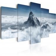 Tableau  Sommet de la montagne audessus des nuages