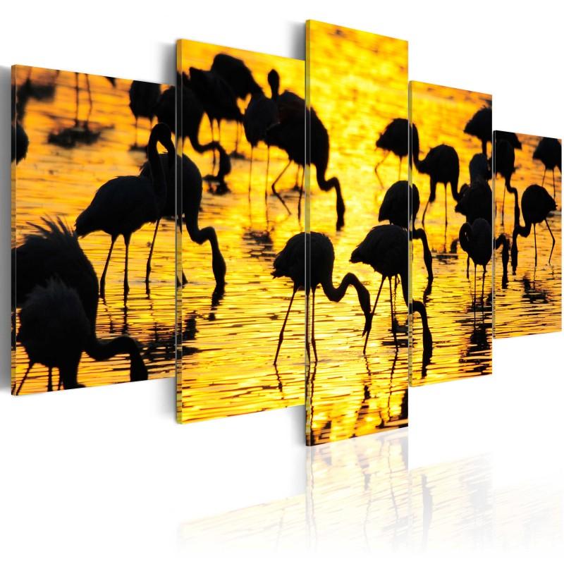 tableau flamants au bord de la mer beaux meubles pas chers. Black Bedroom Furniture Sets. Home Design Ideas