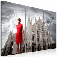 Tableau  Milan  capitale de la mode