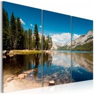Tableau  Montagnes et lac cristallin