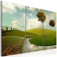 Tableau  Paysage idyllique de la campagne