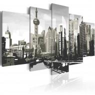Tableau  Shanghai, la plus grande ville de Chine