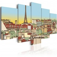 Tableau  Image idyllique de Paris