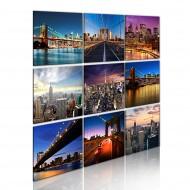 Tableau  New York en neuf scènes