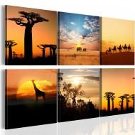 Tableau  Paysages africains